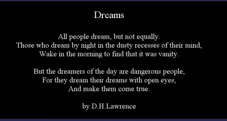 dreams101 450x241 Dreams quote by D.H. Lawrence