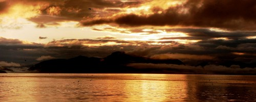 AlaskanSunset 500x200 Nothing Gold Can Stay by Robert Frost